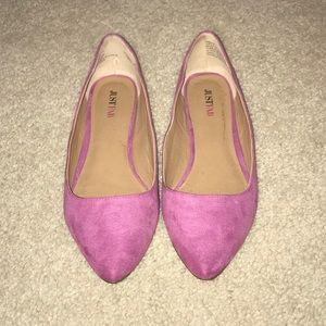 NEW justfab suede flats